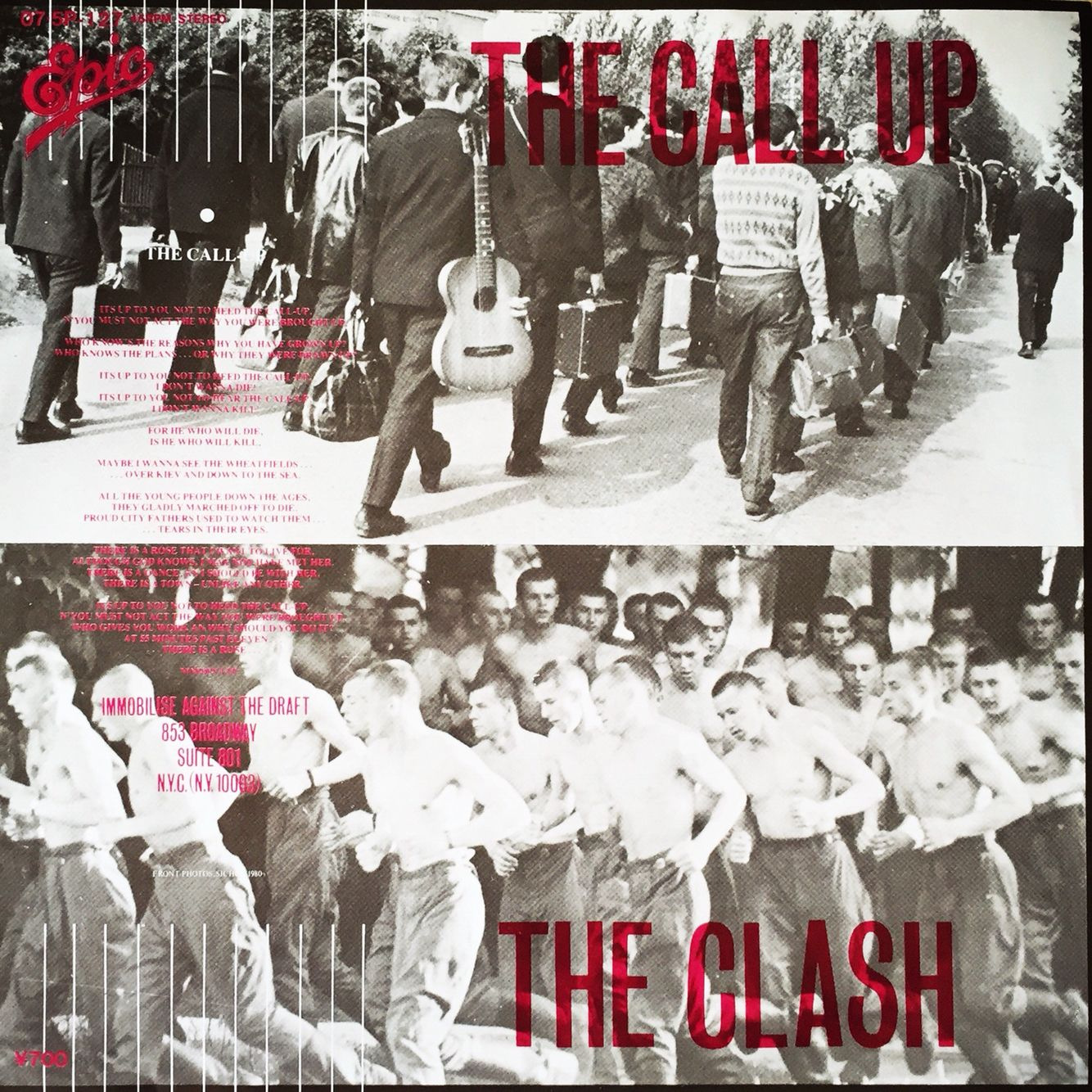 "The Clash ""The call up"" single"