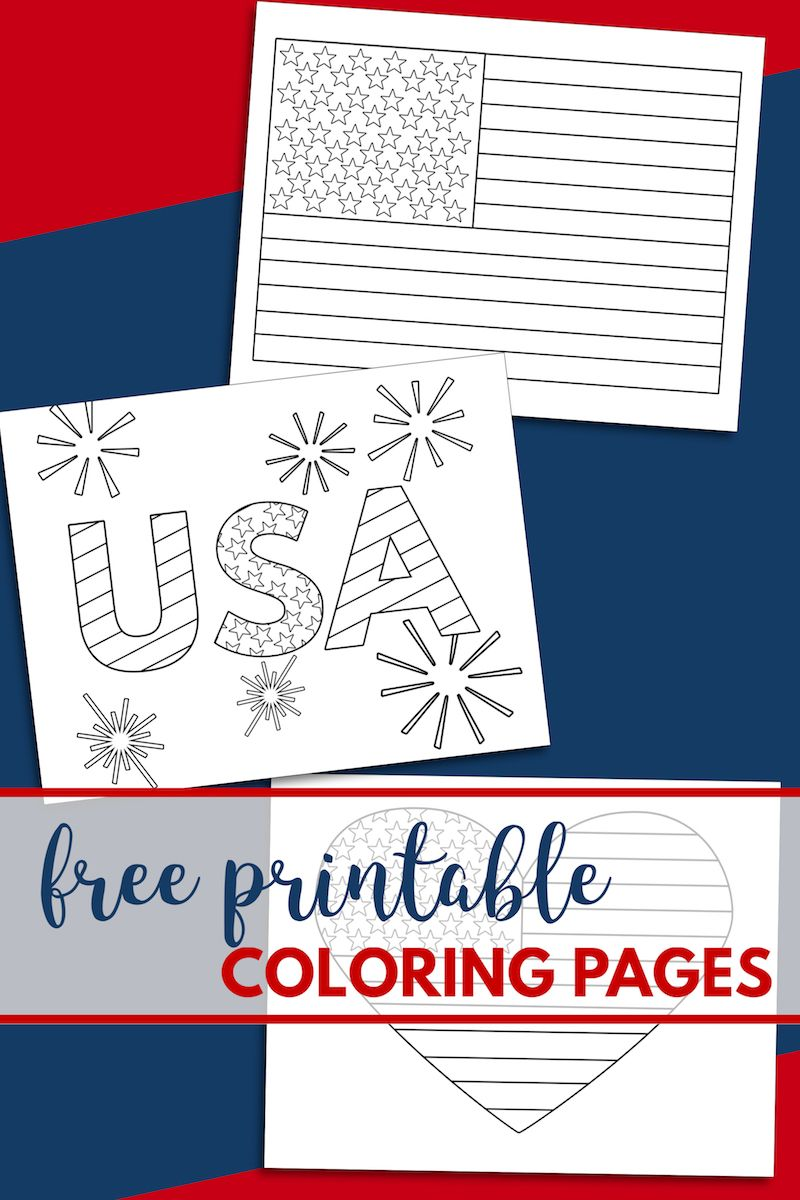 Free Printable 4th Of July Coloring Pages Patriotic P 3 Flag