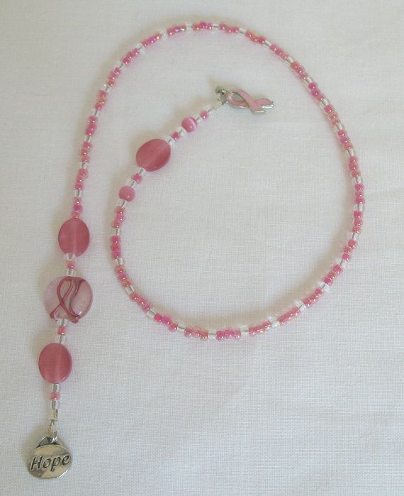 Bookmark  Breast Cancer Awareness pinkHope& by SimplicityBead, $13.00