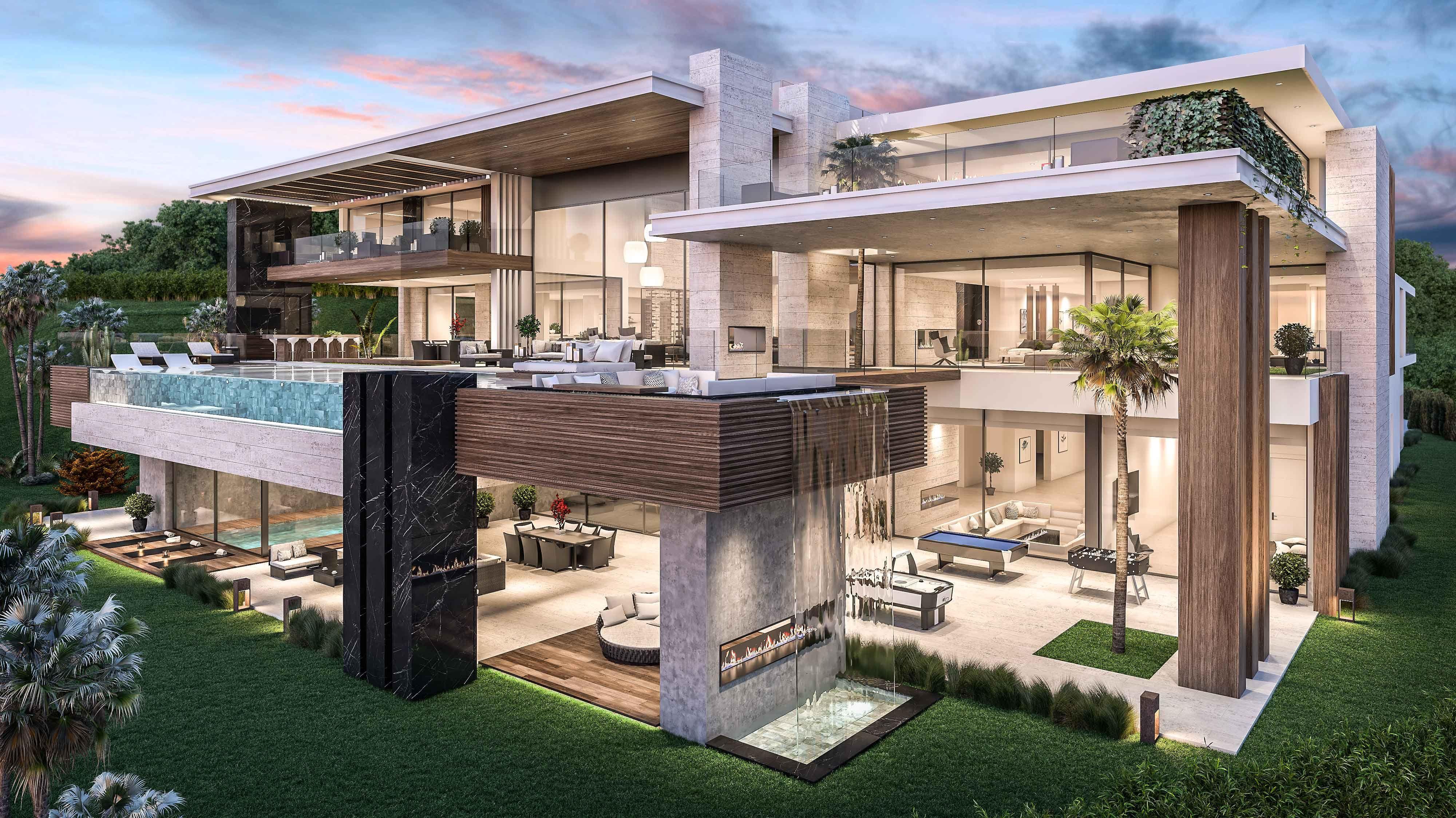 Architecture Construction Of Luxury Villa In La Zagaleta Modern Villa Design Luxury Villa Design Luxury Homes Dream Houses