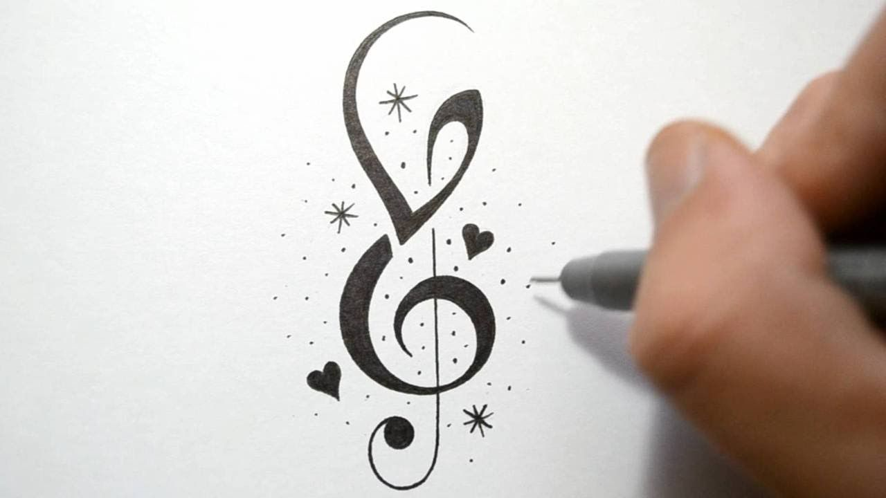 Music notes and stars tattoos how to incorporate initials into music notes and stars tattoos how to incorporate initials into music notes tattoo design biocorpaavc