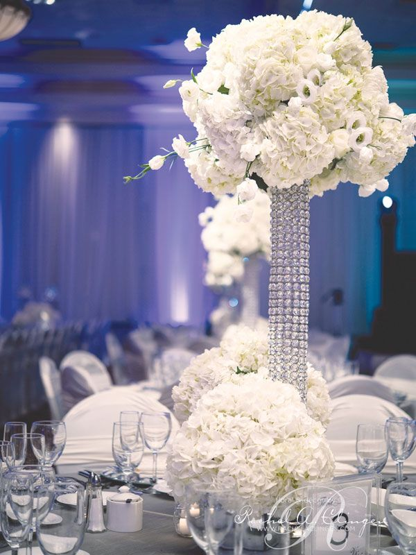 Tall wedding centerpieces high