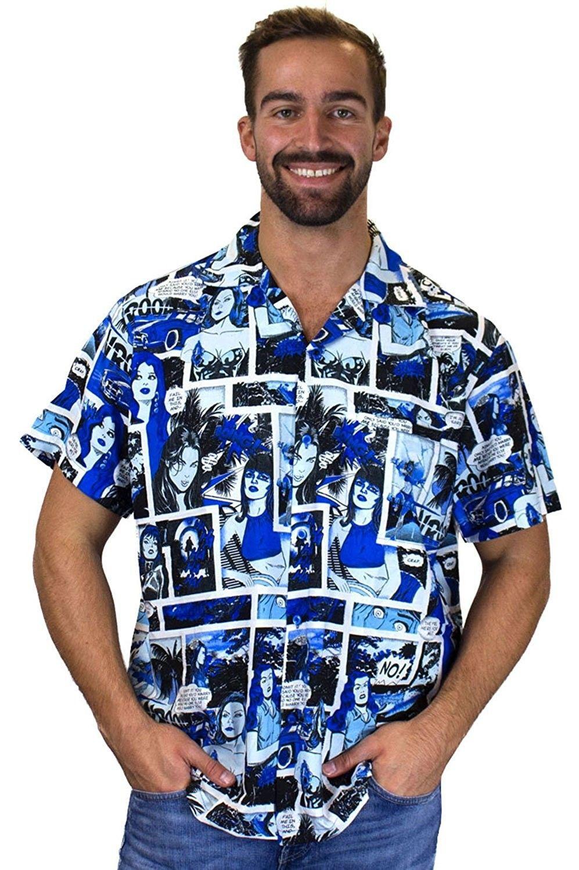 4c84da532c Funky Hawaiian Shirt For Men Short Sleeve Front-Pocket Comic ...