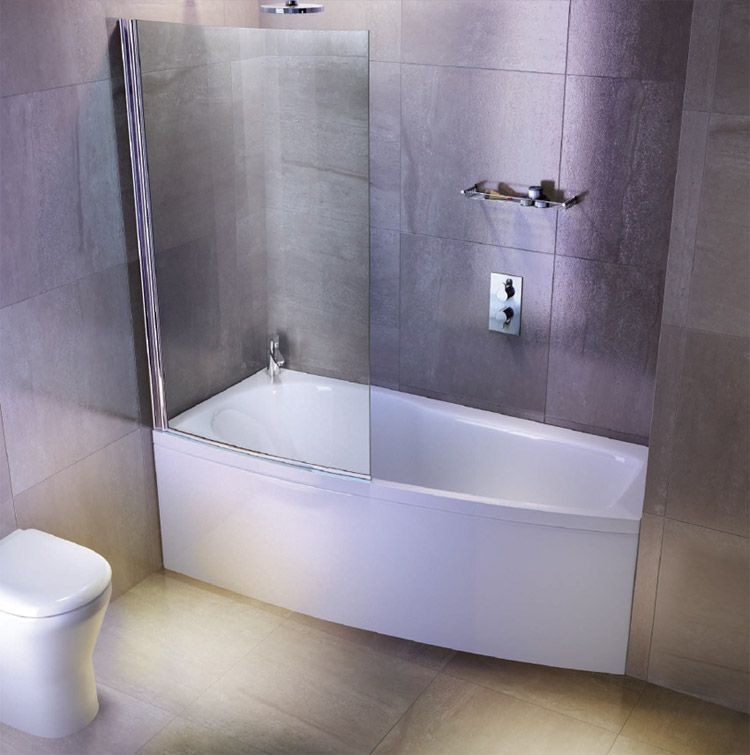 shower baths cleargreen ecocurve bath with and aker acrylic tub wall ...