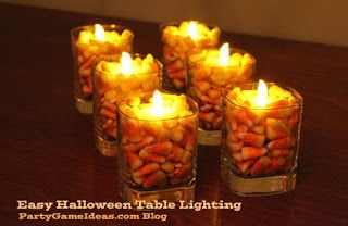 Party Game Ideas Blog: Quick Halloween Table Lighting Idea that is ...