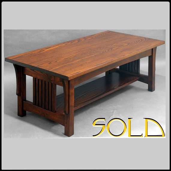 Mission Arts And Crafts Coffee Table Ash Mesas De Cafe Mesa