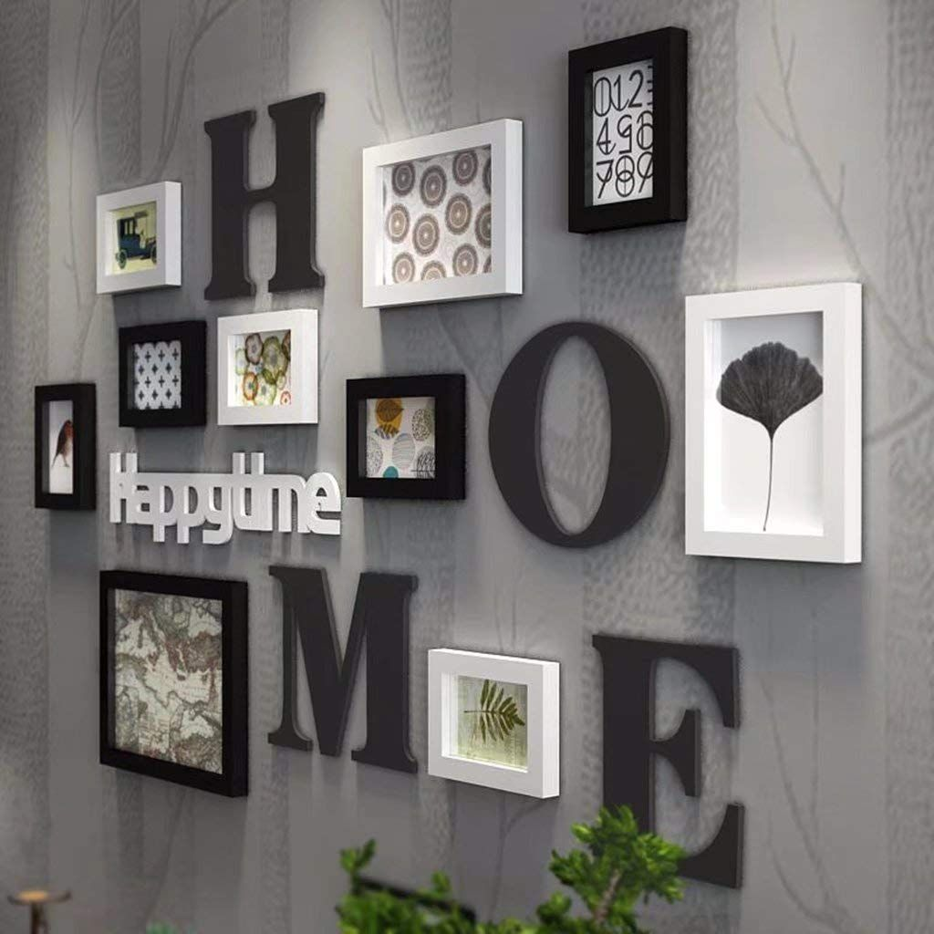 Yzxk Modern Picture Frame Creative Solid Wood Photo Wall Living Room Multi Photo Frame Living Room Wall Designs Wall Collage Decor Frames On Wall #photo #frames #for #living #room