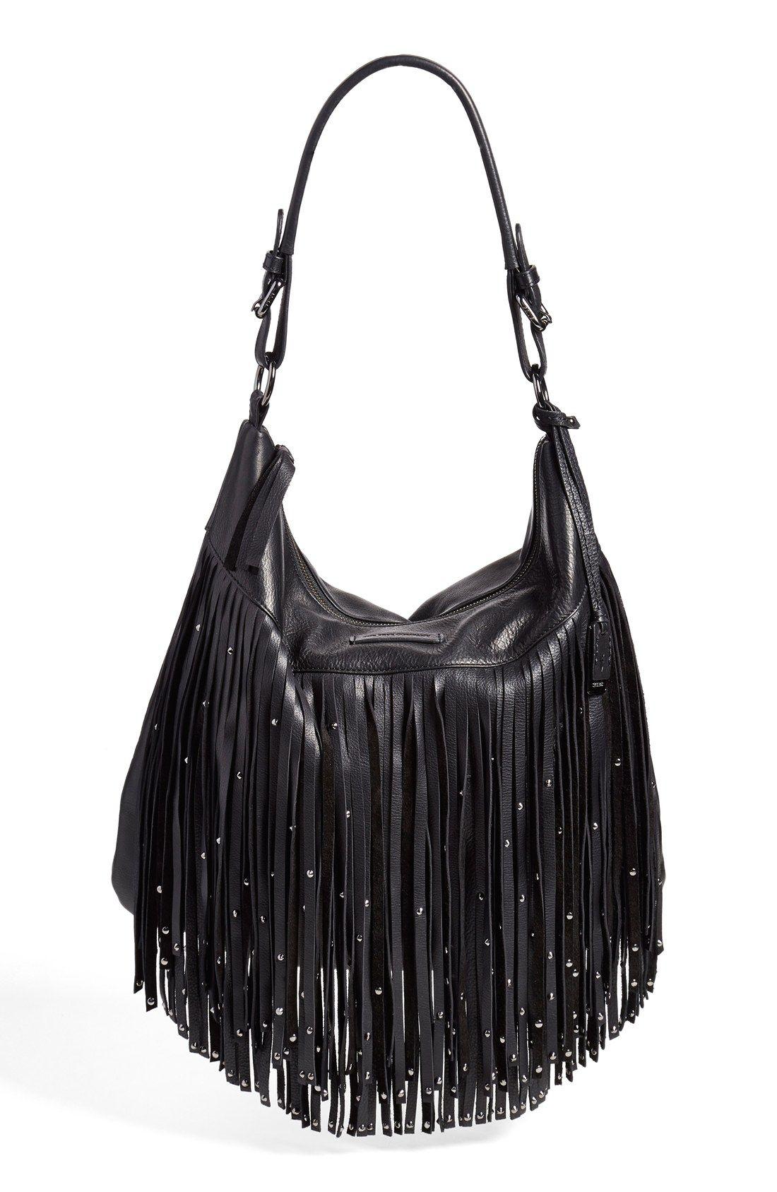 Frye Heidi Studded Fringe Hobo Bags