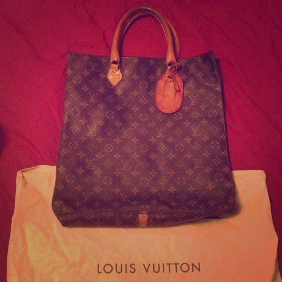 b83c505cd56b Vintage Louis Vuitton Sac Plat Monogram Tote Bag Gorgeous 1970 s monogram  tote