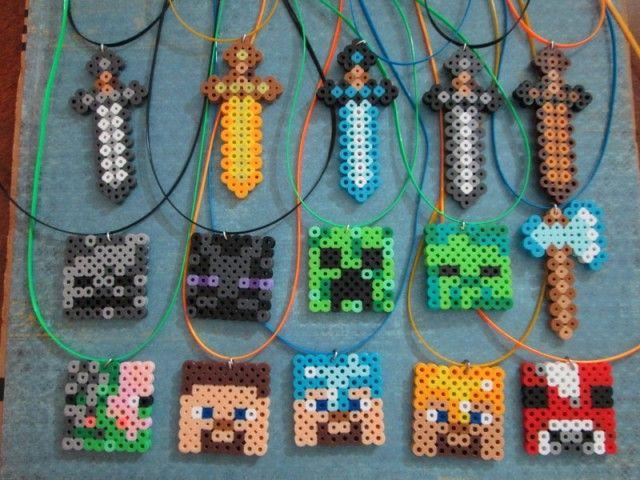 Spiderman Minecraft Aus Bugelperlen Perler Beads Tutorial