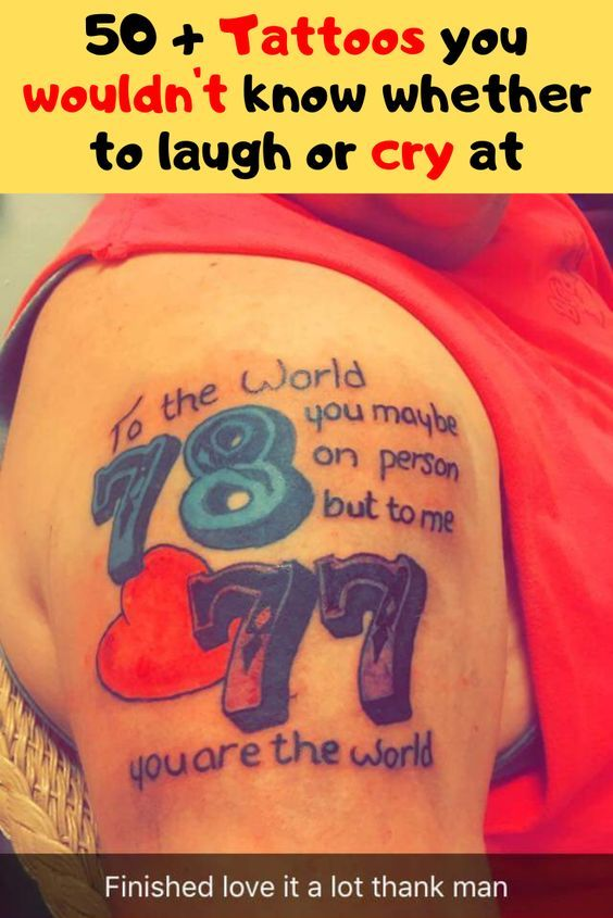 50 + Tattoos you wouldn't know whether to laugh or cry at