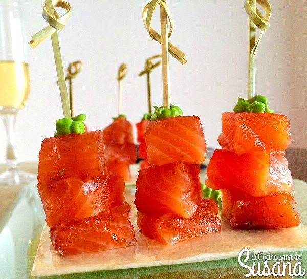 Aperitivo saludable de salm n marinado o c mo hacer un - Aperitivos de salmon ahumado ...