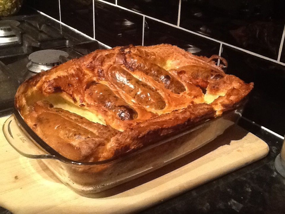 Classic Toad in the Hole #porksausages