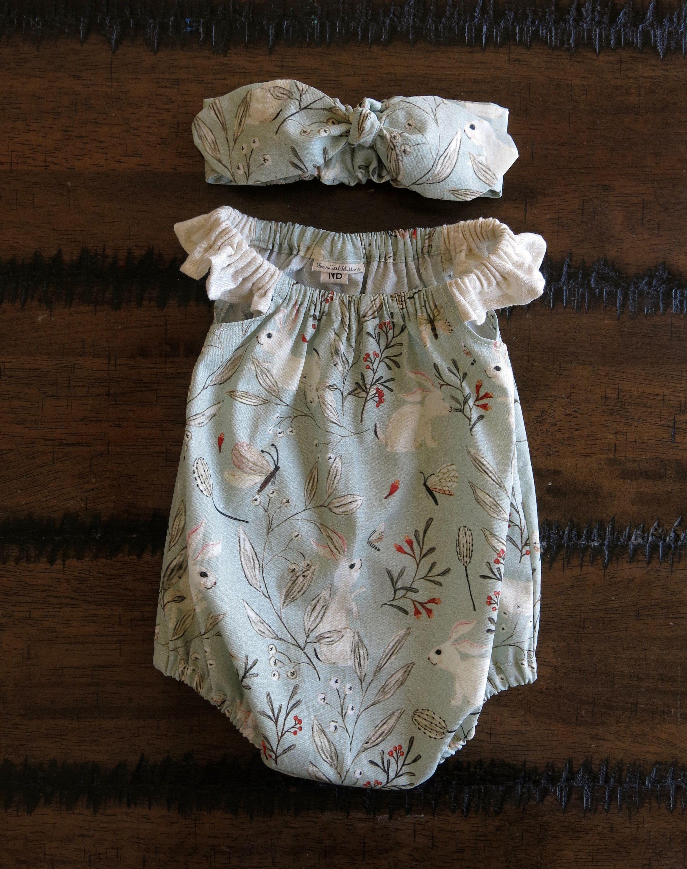 a2ea370ec Baby girl Easter romper / Bunny romper / Baby girl bunny playsuit / bunny  baby clothes
