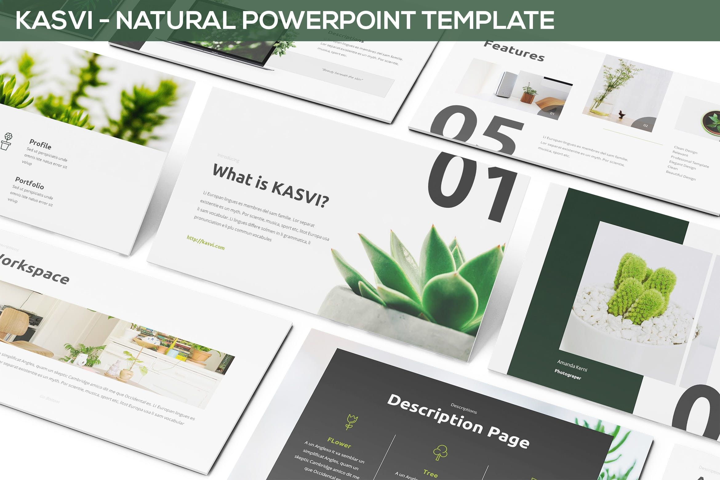 Kasvi  Nature Powerpoint Template  Art Inspo
