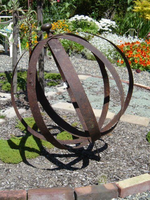 Wine Barrel Rings And A Couple Of Bolts Garden Art