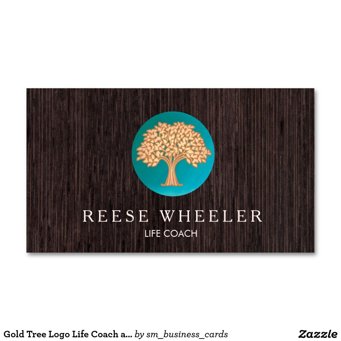 Gold Tree Logo Life Coach and Naturopath Wood Double-Sided ...