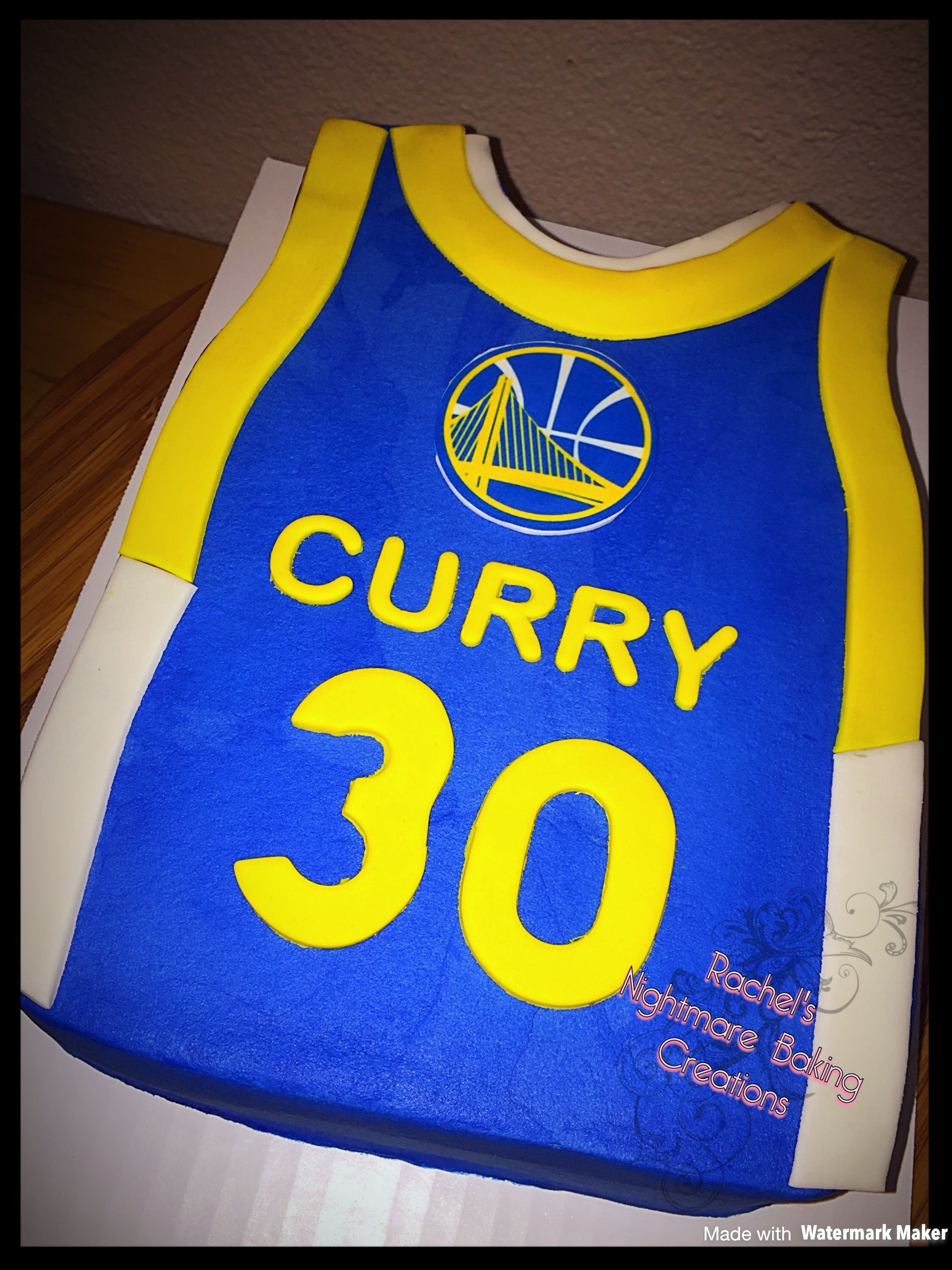 Golden State Warriors Stephen Curry Jersey Cake Golden State
