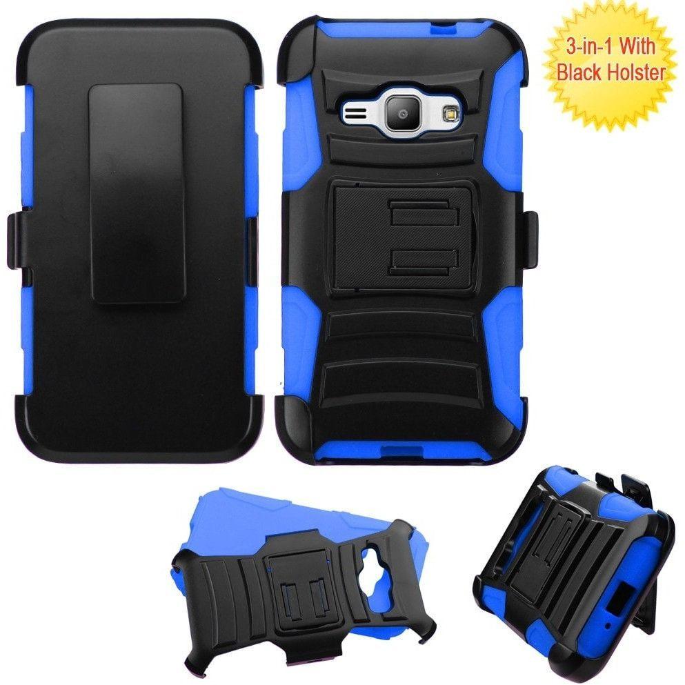 MYBAT Armor Holster Galaxy J1 Luna / Amp 2 Case - Blue