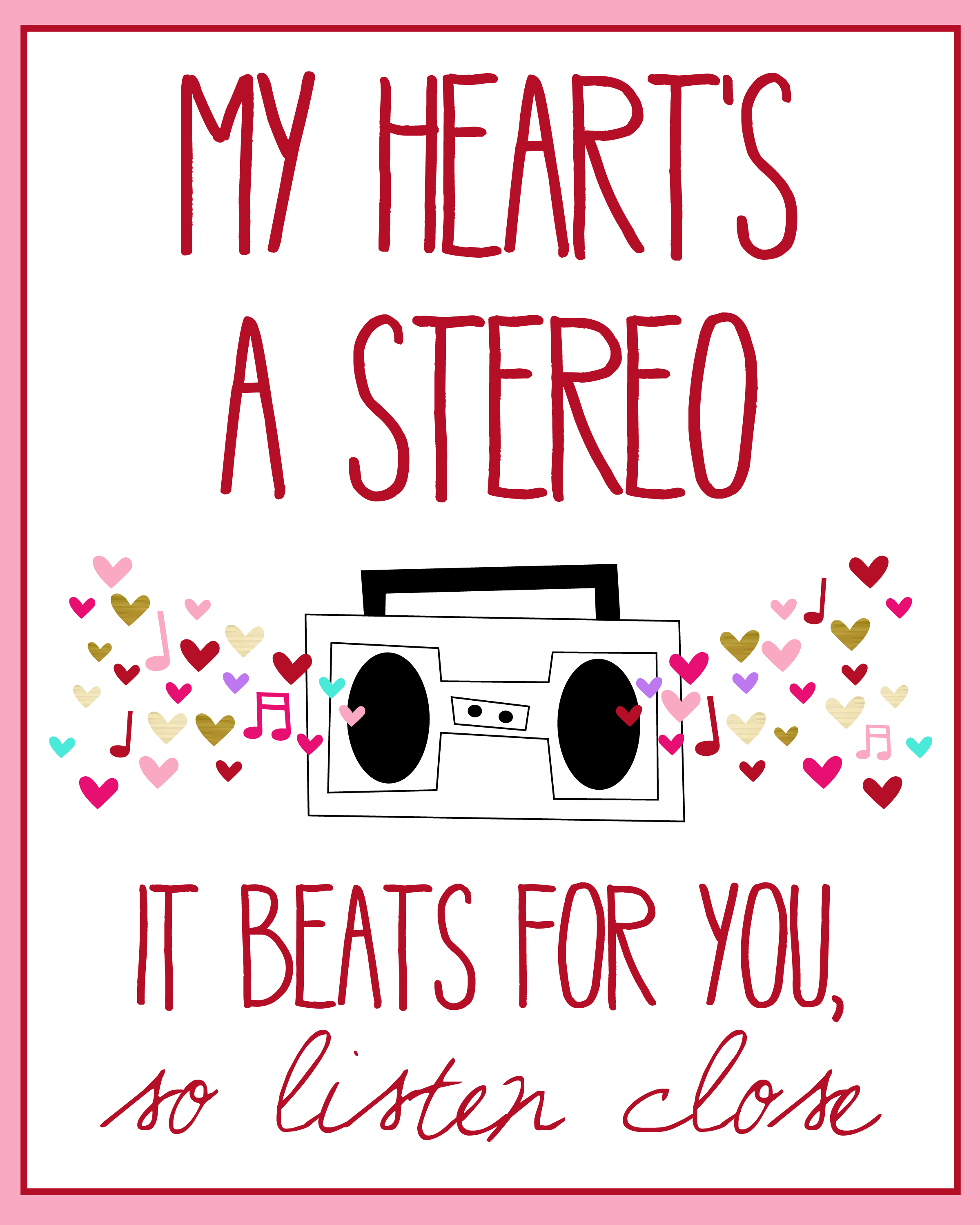 My Heart's a Stereo free Print | Music | Music lyrics, Songs, Song