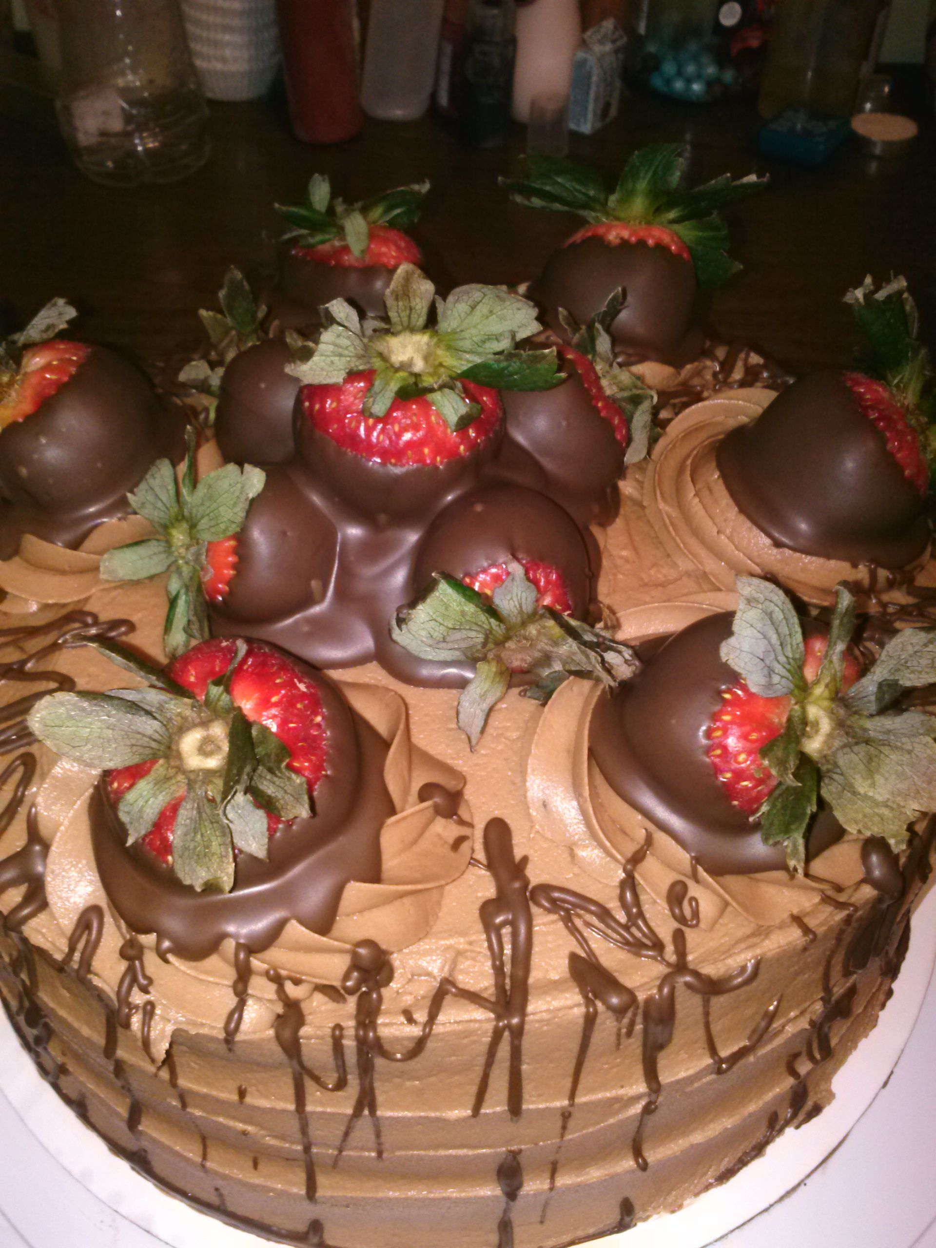 chocolate covered strawberry cake twisted
