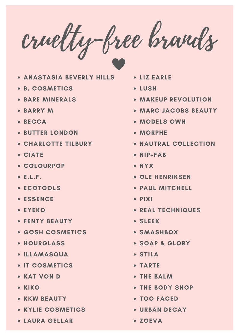 List Of Cruelty Free Cosmetics Brands Beauty Brands Makeup Brands Gosh Cosmetics Cruelty Free Cosmetics Bare Minerals Makeup