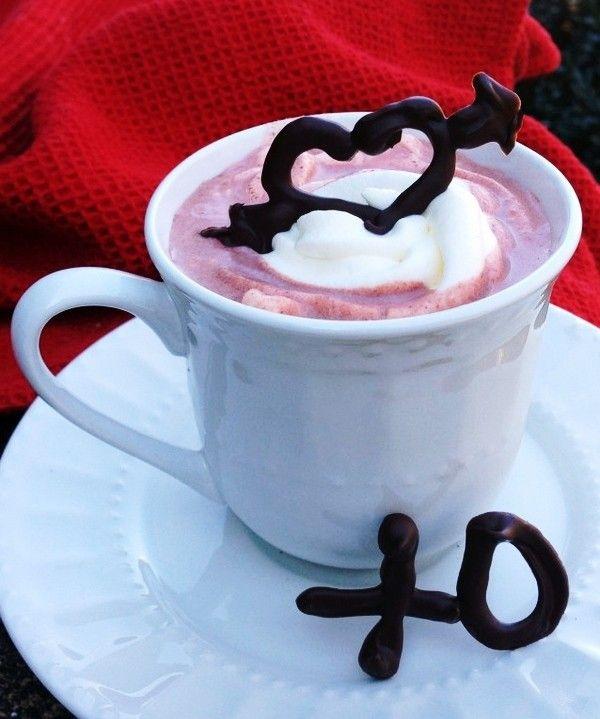 Inspired Valentine's Day Red Velvet Hot Chocolate, 2014 Valentines Day Hot Cocoa Ideas, 2014 Valentine's Day Inspiration #2014 #diy #valentines #inspiration www.foodideasrecipes.com