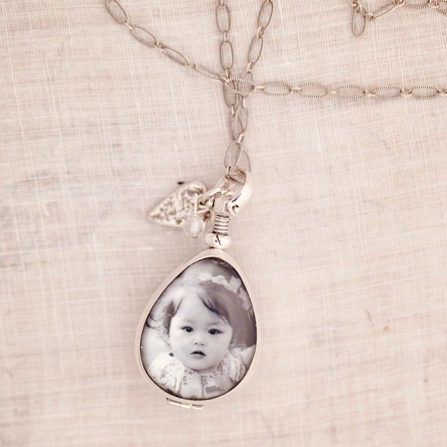 Glass Locket Personalized Photo Jewelry Three Sisters Jewelry