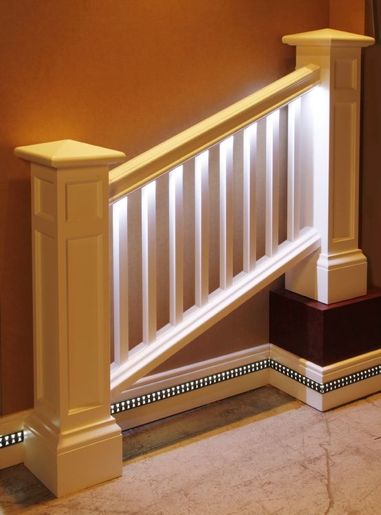 Lighted Stair Rail Home Repairs Interior Decorating
