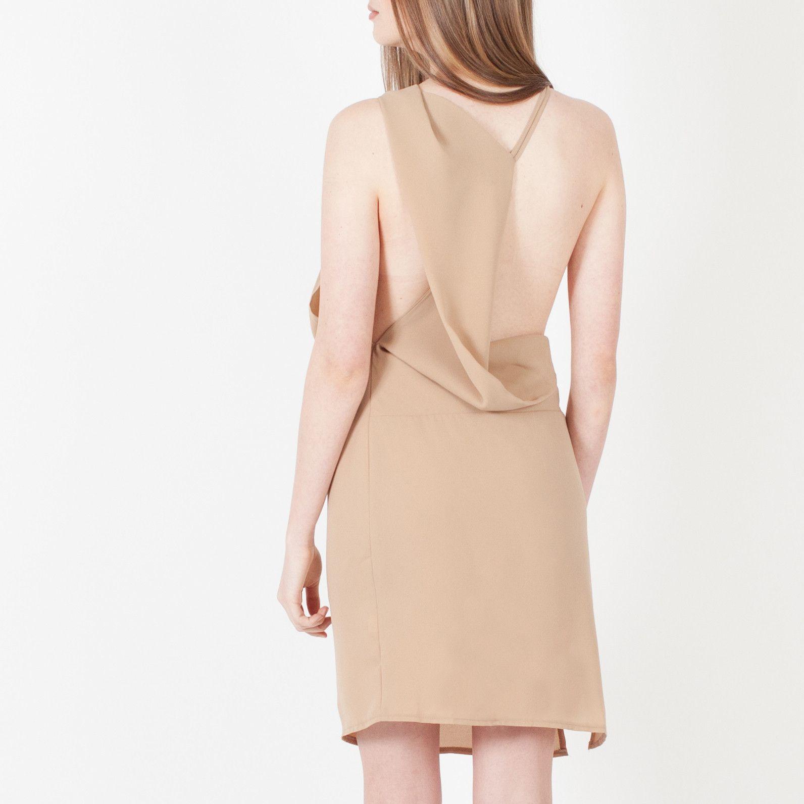 Modern Citizen  |  Celeste Open Back Dress (Beige) $49