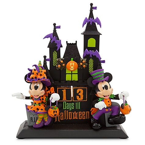 Minnie and Mickey Mouse Figural Halloween Countdown Calendar