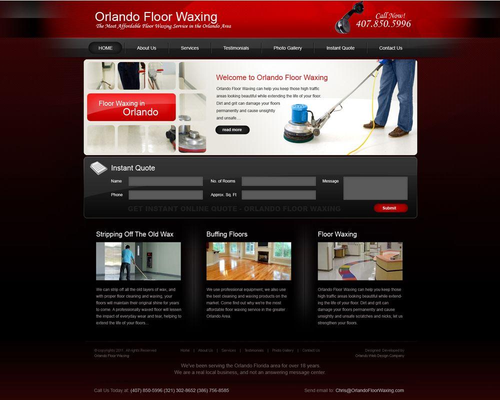 Orlando Floor Waxing Portfolio Web Design Internet Marketing Service Wax