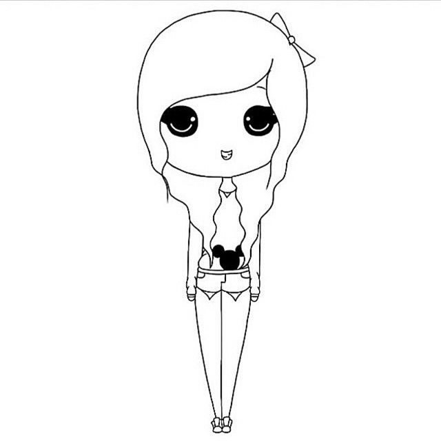 Chibi Girl Template - Google Search | Drawings And Art | Pinterest