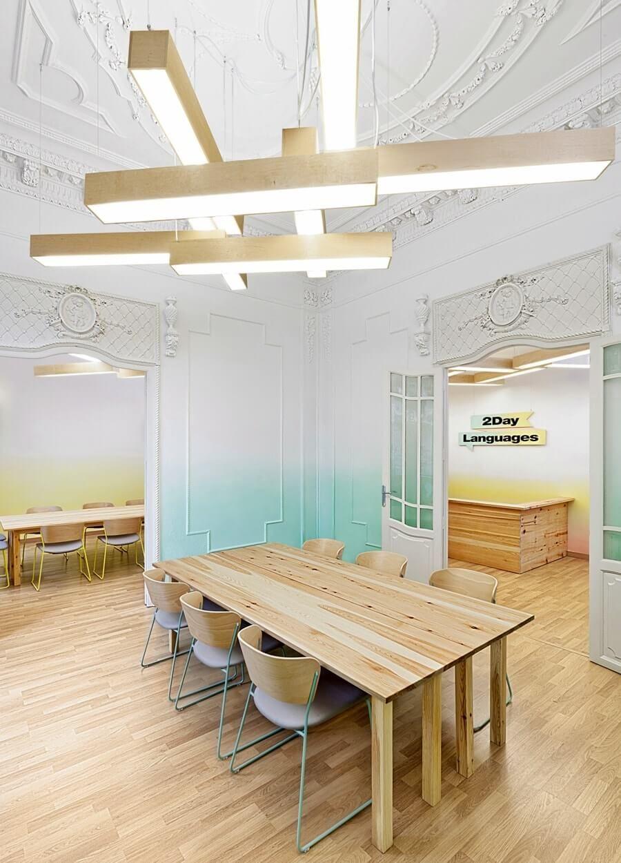 Волшебство цвета: эффект омбре в интерьере | Мебель ...