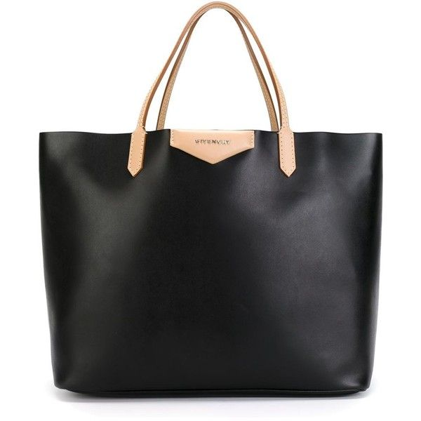 GIVENCHY medium 'Antigona' shopper tote (2 715 BGN) ❤ liked on Polyvore featuring bags, handbags, tote bags, black shopping bags, shopping bag, black handbags, black tote and beige handbags