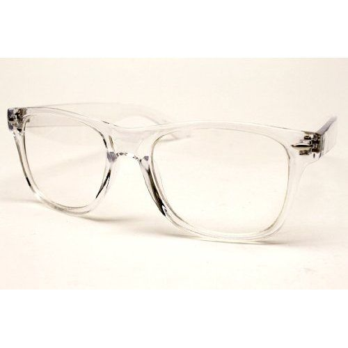 f7b8824adbb Amazon.com  Wayfarer Crystal Clear Frame I want my prescription lenses in  these frames!