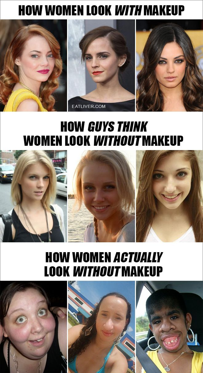 How Women Actually Look Without Makeup Crazy funny