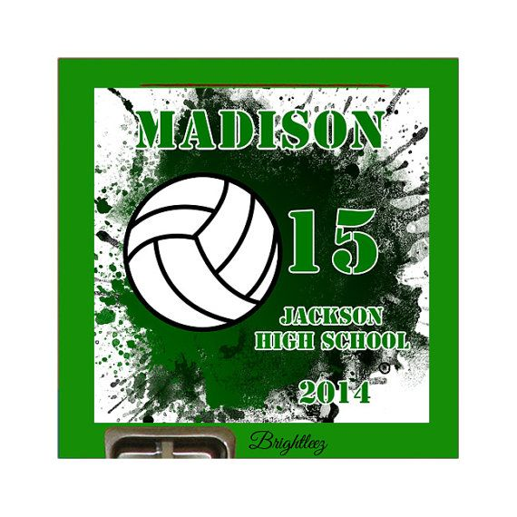 Personalized Volleyball Player Magnetic School Locker Sign - Custom sport car magnetsvolleyball car magnet custom magnets for volleyball players