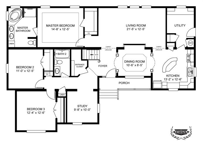 Interactive Floorplan 2850 60X42 FK3+2 OAKWOOD (MOD ...