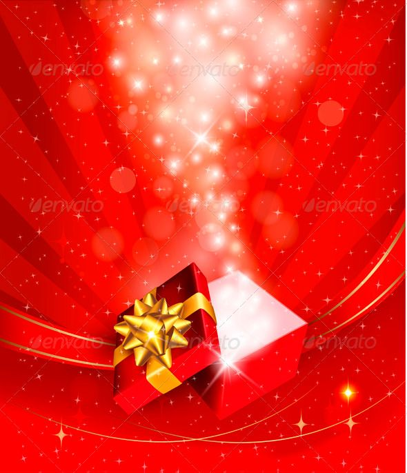 Christmas background with open gift box vector eps happy old christmas background with open gift box vector eps happy old available here negle Gallery