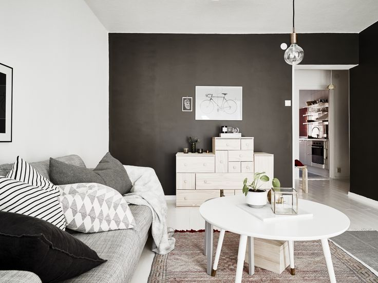 A monochromist the dark side black walls · black wallswhite interiorsscandinavian