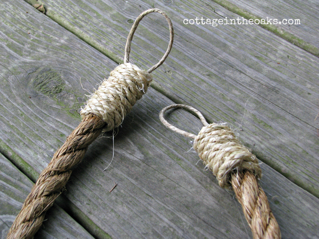Nautical rope curtains - Diy Rope Curtain Tie Backs For A Rustic Nautical Look