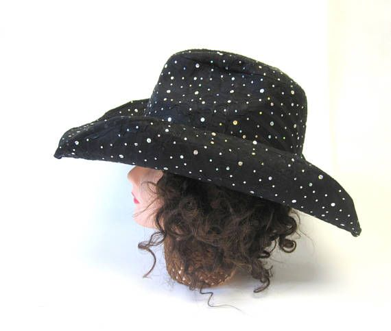 90bef075ba2cf2 Iridescent Sparkle Black Cowboy Hat | Products