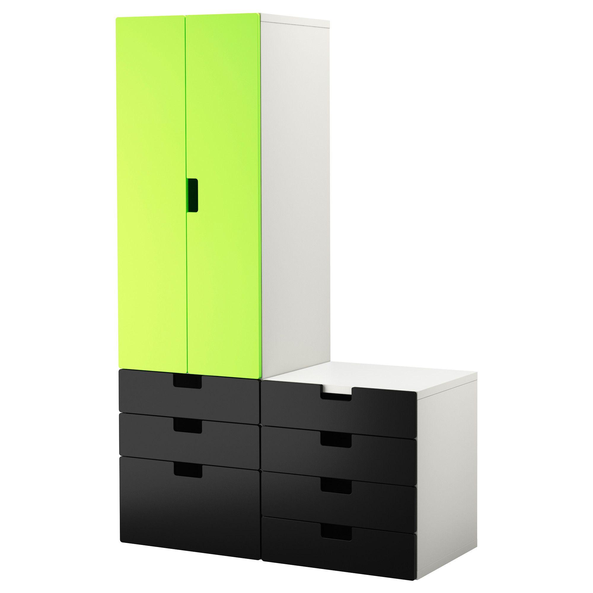 stuva storage bench whiteblack 90x50x50 cm