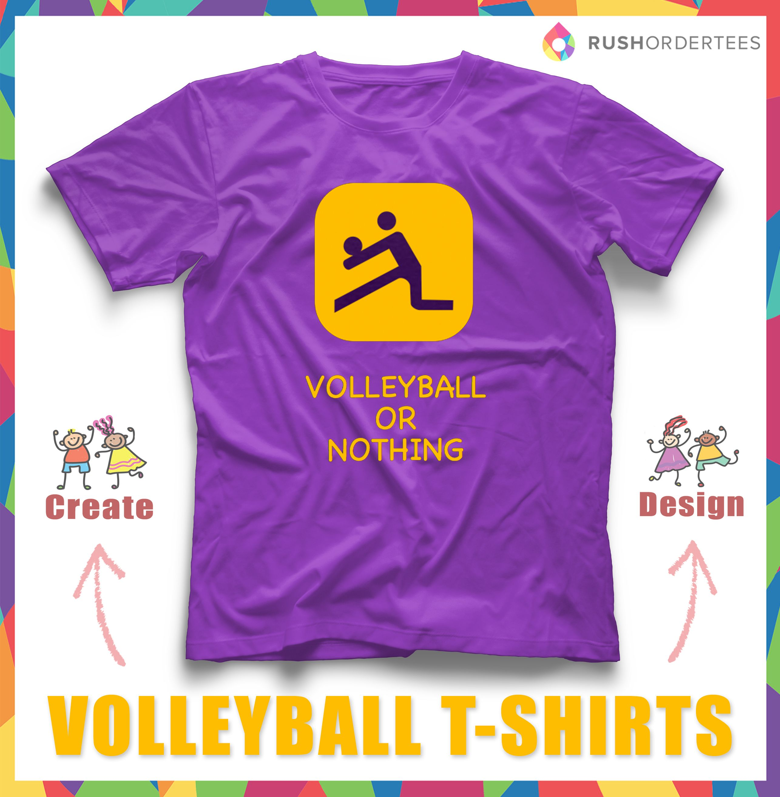 Volleyball Custom T Shirt Design That You Can Customize Free And