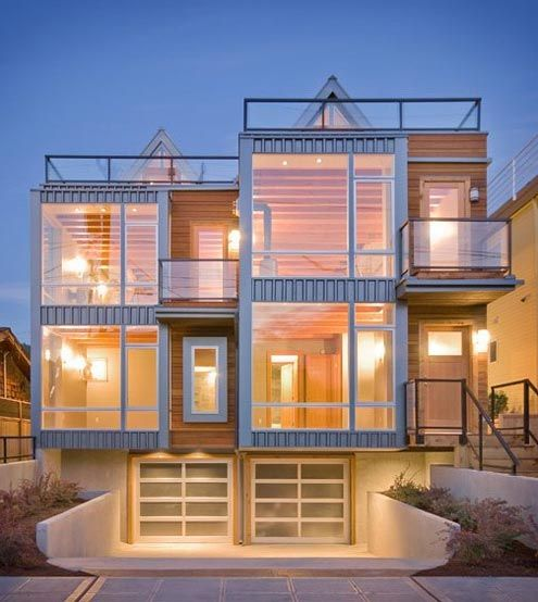 Award Winning Green Home Designs: Contemporary Townhouse Design: Ray Johnston Architects, An