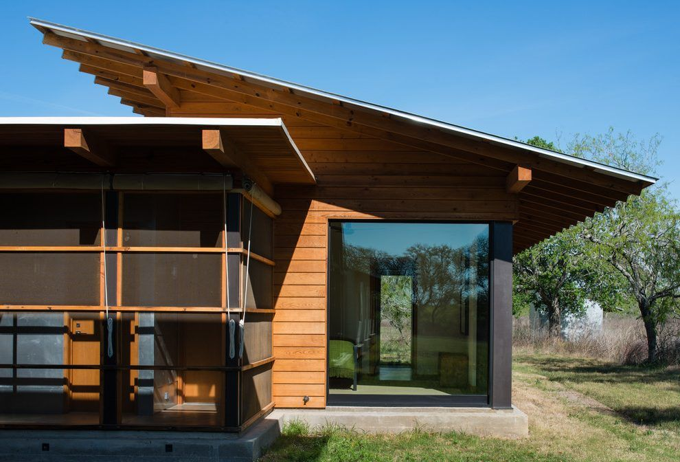 Image Result For Overhang Of Flat Roof Modern Exterior Concrete Fire Pits Butterfly Roof