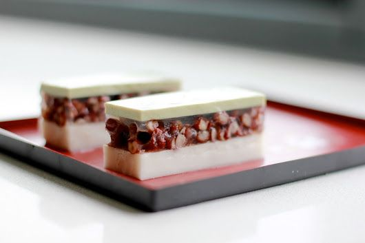 Coconut, Red bean and Matcha Agar Agar ~ Yep. Still curious about this agar agar stuff... Oh. And this recipe has COCONUT in it, so that alone has my attention ;) ~