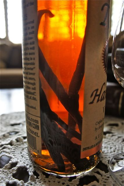 Home Made Vanilla Extract - making this now. After a month, I can't smell the vodka any more and it's almost as dark as a cola! Yum!!