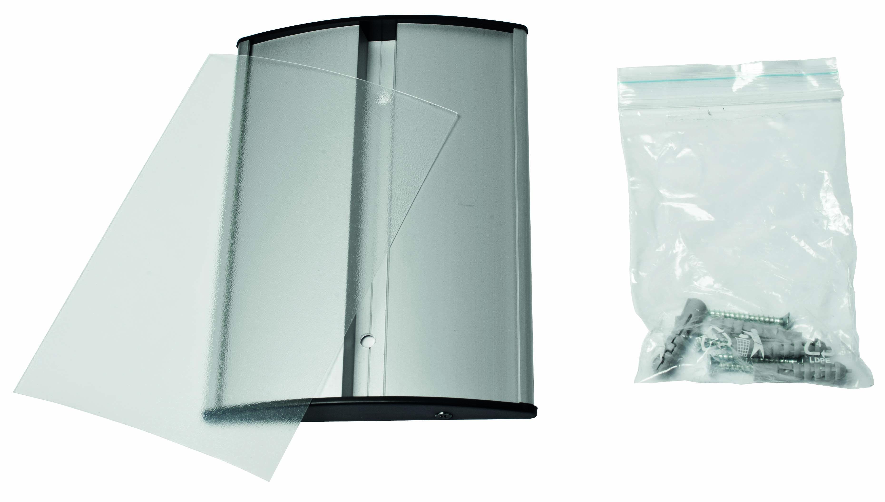 Ufficio H : Targhette da ufficio h cm arc in alluminio convesso targa da